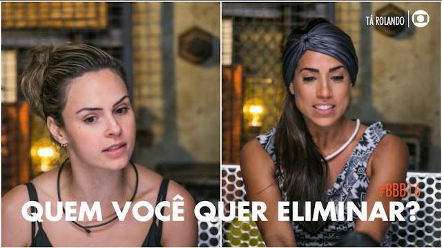 BBB16: Ana Paula e Juliana vão para o paredão