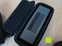 innen mit Box: Tragbare Tragetasche Lycra EVA Spielraum-Speicher-Schutzhülle Box Bag für Bose Soundlink Mini and Soundlink mini Ⅱ Bluetooth Wireless Speaker-Black