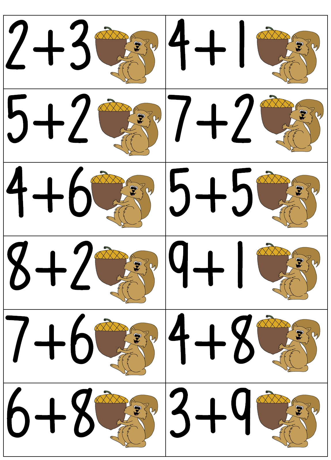 First Grade Wow Addition Math Tub Activities With A Fall