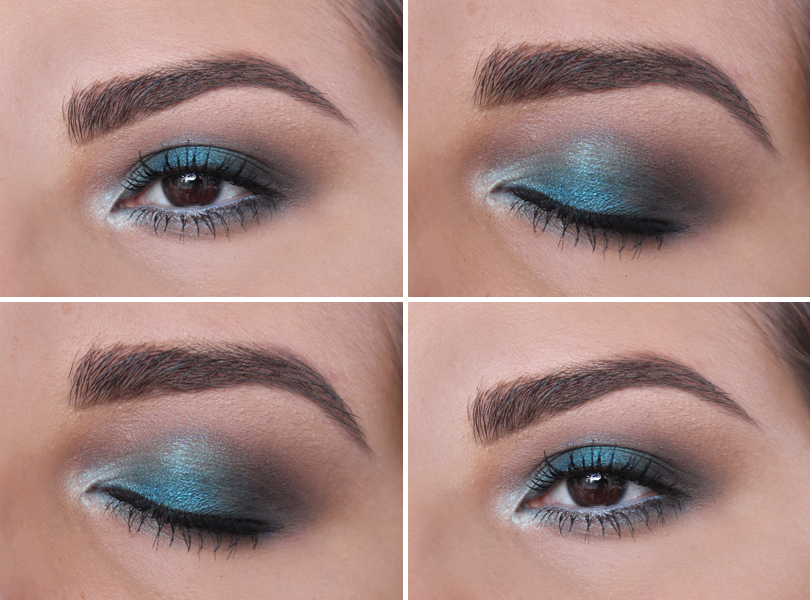 blue navy metallic shimmery light smokey eye brown eyes colourpop cosmetics coconut nyx poolside coastal scents rimmel blue hair fotd makeup look