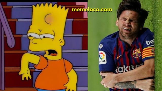Los Simpsons predijeron que Messi se quebraría el brazo