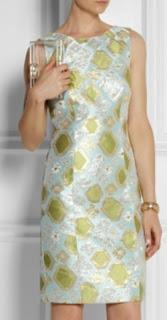 Vestido con corte francés en damasco de seda