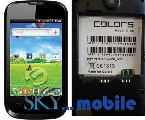 SKY MOBILES TEAM: COLORS X105 flash file