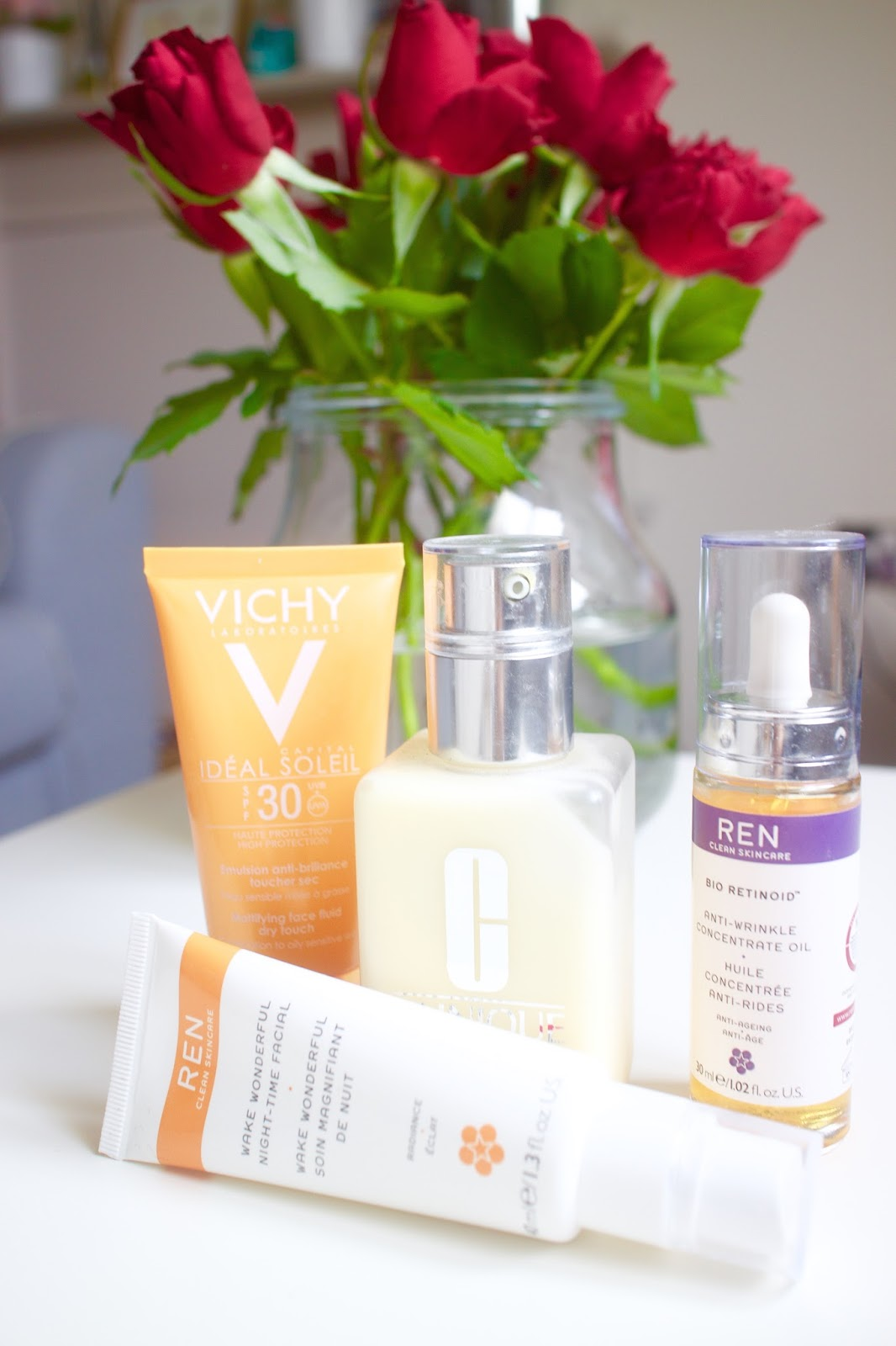 She's So Lucy Skin Diaries Febraury March April Oily Hormonal Acne PCOS Skin Retinol REN Wake Wonderful Vichy Suncream
