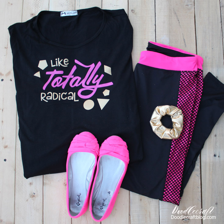 Make a totally radical Halloween or dance party costume!