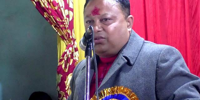 GTA Vicechairman Anit Thapa in Kalimpong Algara Haat shed opening