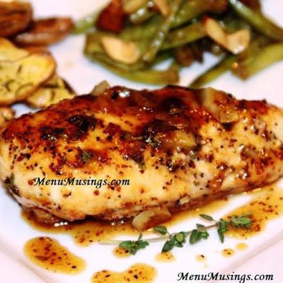 maple mustard glazed chicken_menumusings