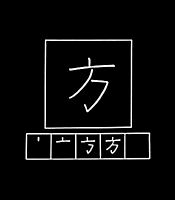 kanji side, person, way