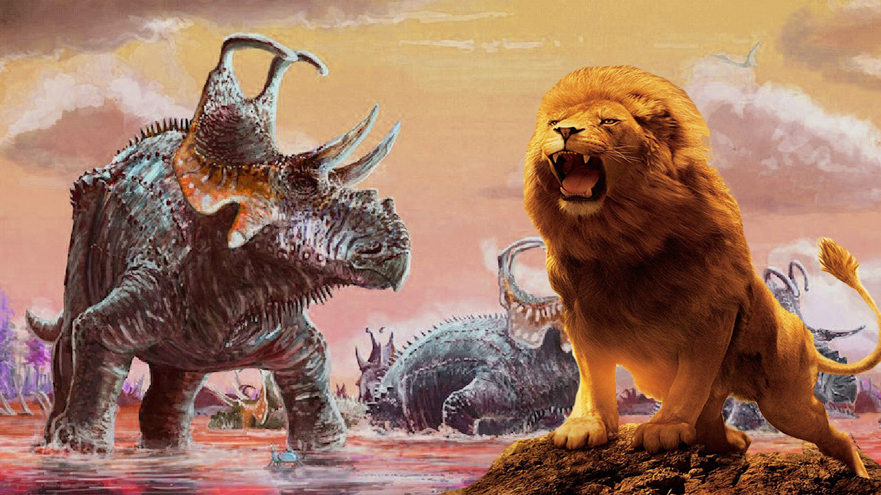 Crazy Dinosaurs Fights Spinosaurus Attack Action Movie Lion King