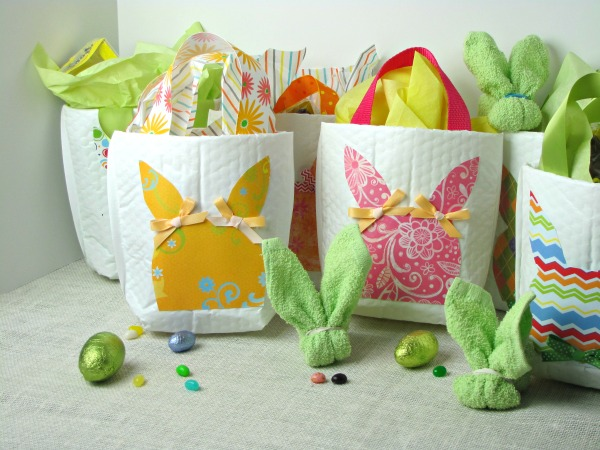 Bunny bags and boo boo bunnies from facecloths