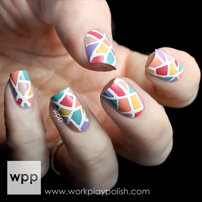 Seche Perfectly Poised Collection Stained Glass Nail Art