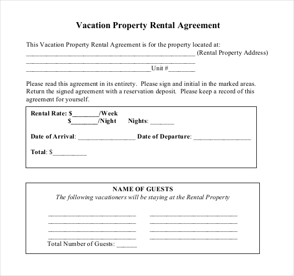Tenancy agreement templates in word format excel template for Land rental contract template