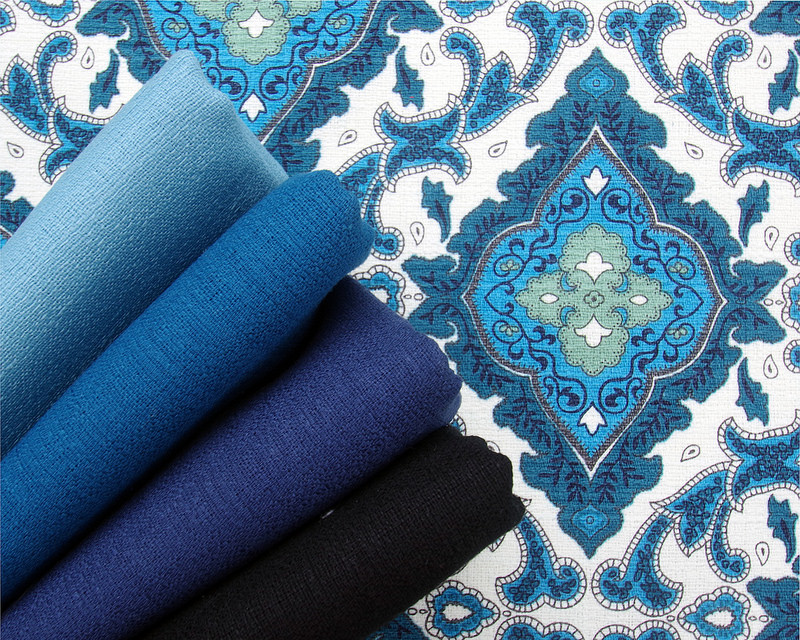 Essentials by Gertrude Made for Ella Blue Fabrics - Solids | © Red Pepper Quilts 2017