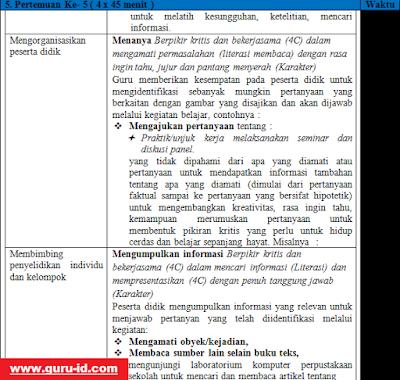 gambar rpp bahasa indonesia perminatan kelas 12 revisi 2018