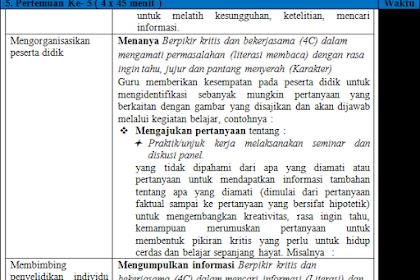 Perangkat Pembelajaran K13 Bahasa Indonesia Perminatan Kelas 12 Revisi 2018