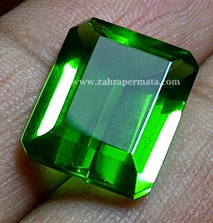 Batu Permata Green Tektite + Memo - ZP 247