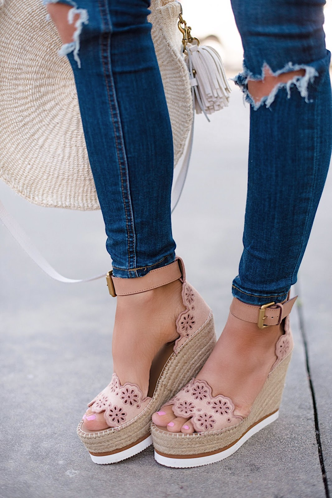 See by Chloe Eyelet Wedges - See more and find all the details on Something Delightful Blog