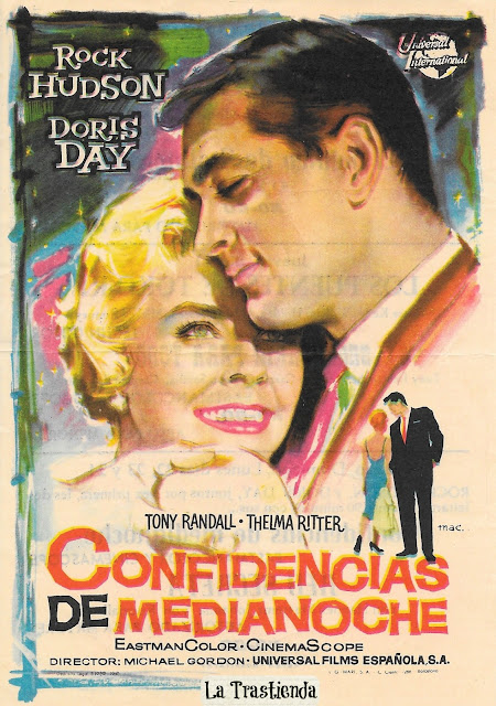 Programa de Cine - Confidencias de Medianoche - Rock Hudson - Doris Day