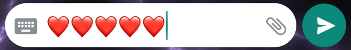 Red Heart Emoji on whatsapp