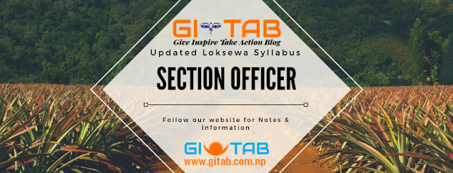 Loksewa (PSC) Section Officer Updated Syllabus