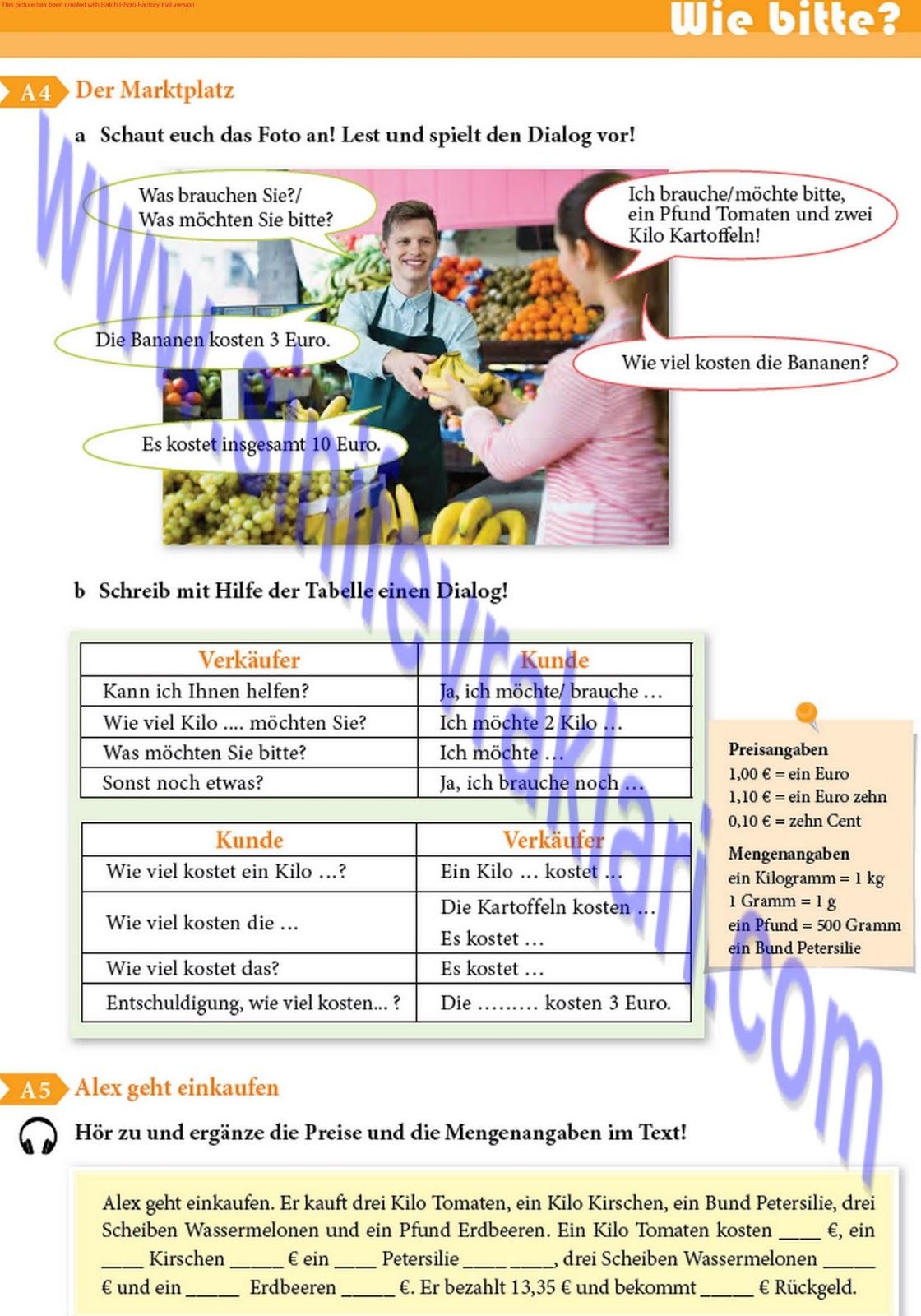9 Sınıf Almanca A11 Ders Kitabı Cevapları Sayfa 53 Ders Kitabı