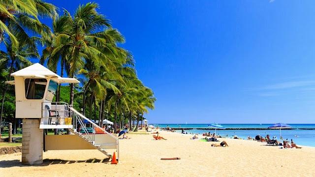 people relaxing on Hawaii Beach