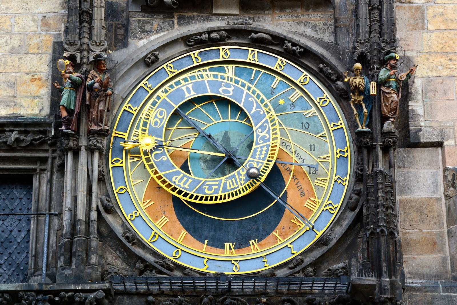 Prague's astronomical clock face