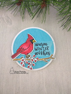 Warm Winter Wishes a card by Diane Morales| Winter Birds Stamp Set by Newton's Nook Designs