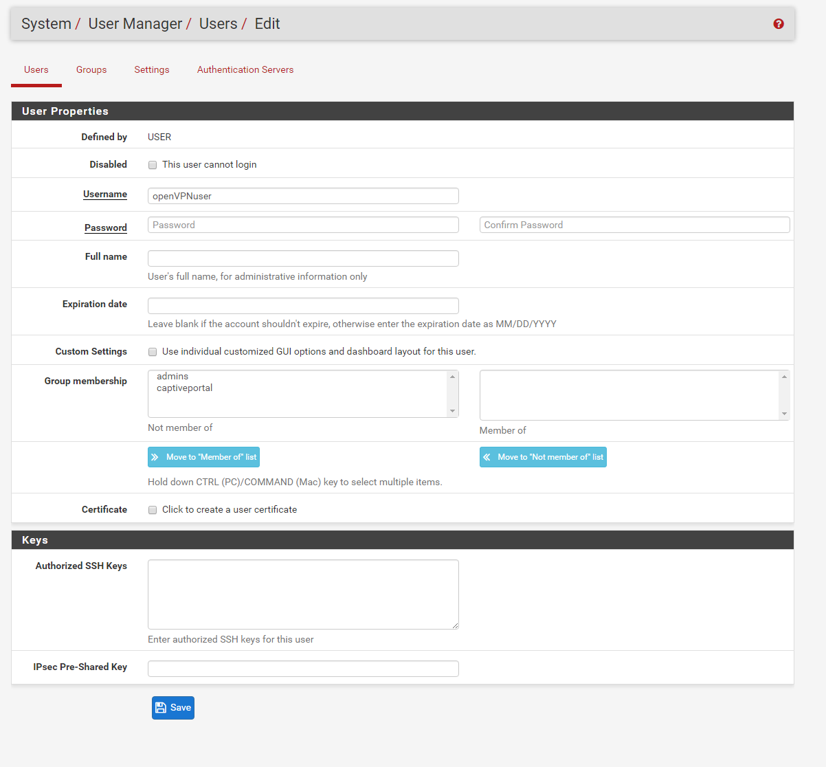 The OptionKey Blog: Setting Up PFSENSE with OPENVPN using