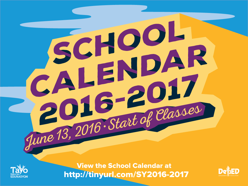 DO 23, s. 2016 - School Calendar for School Year 2016-2017 | DEPED ...