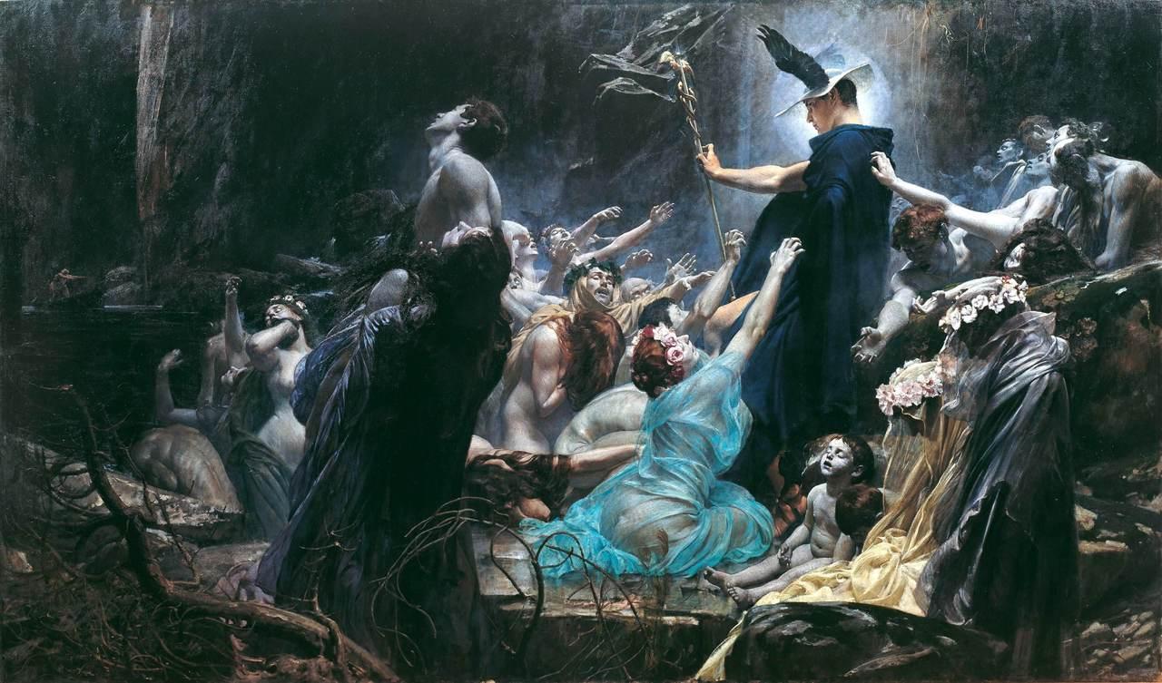 Sus pinturas parecen sacadas del final del siglo XX, y si no fuera por sus  temáticas mitológicas (pero casi siempre morbosas y oscuras), parecería un  pintor ...