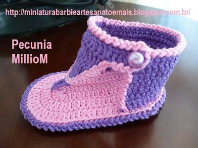 DIY Bebê - Sandálias de Crochê Para Meninas Com Passo a Passo 4