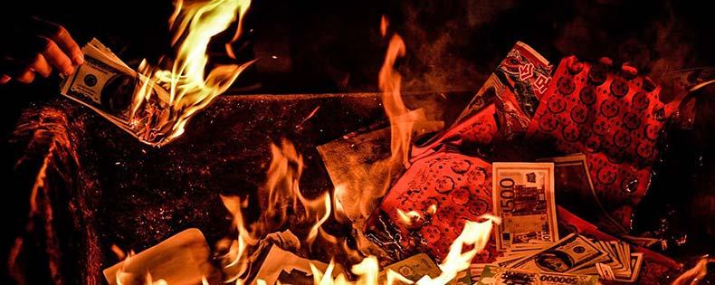 Сожжение денег Китай