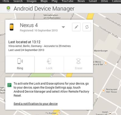 Cari Handphone Hilang Guna Android Device Manager