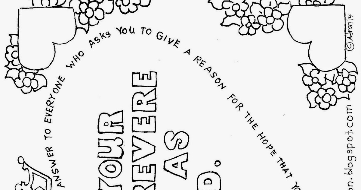 Coloring Pages for Kids by Mr. Adron: In Your Hearts
