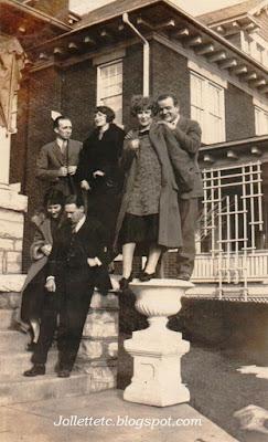 Velma Davis and friends at the Lucas house about 1925 Harrisonburg, VA  https://jollettetc.blogspot.com