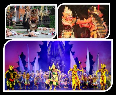 Seni Teater Bali, Barong, Arja dan Kecak