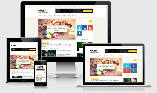 Maya - Template Blogger Cá Nhân đẹp được thiết kế bởi MS Design
