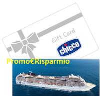 Logo Chicco ''Sulle Onde del Mare'': vinci Gift Card da 50 € e 1 Crociera per la famiglia