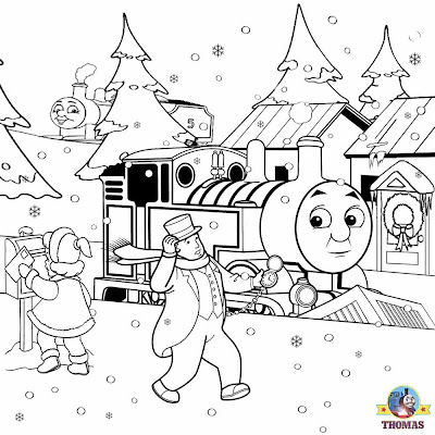 Printable christmas train coloring pages ~ FREE Christmas Coloring Pages For Kids Printable Thomas ...