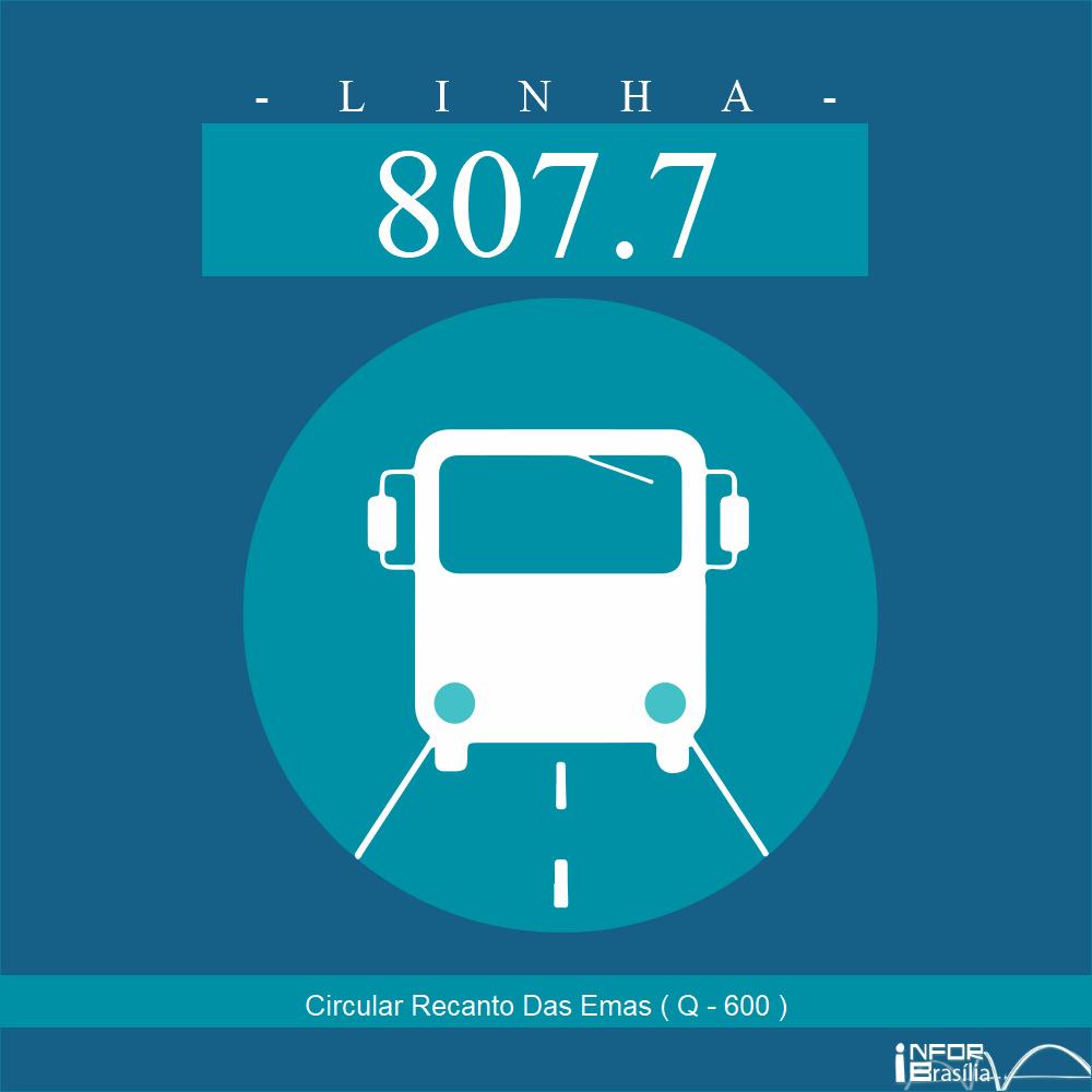 Horário de ônibus e itinerário 807.7 - Circular Recanto Das Emas ( Q - 600 )