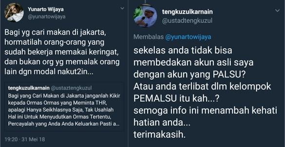 Tanggapi Akun Palsu Wasekjen MUI, Yunarto Di Skakmat Ustadz Tengku Zulkarnain