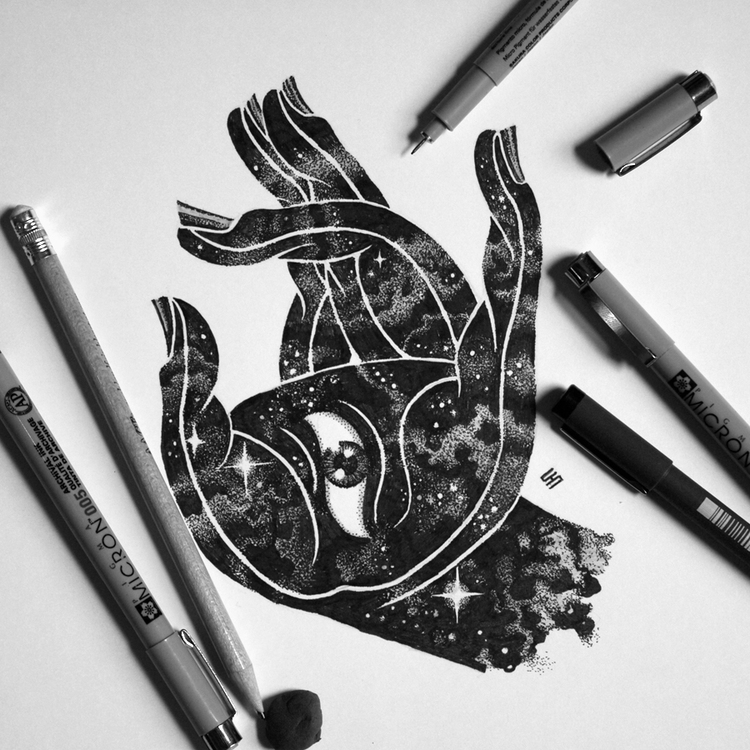 14-All-Seeing-Eye-Tony-Graystone-Neon-Mystic-Black-and-White-Drawings-www-designstack-co