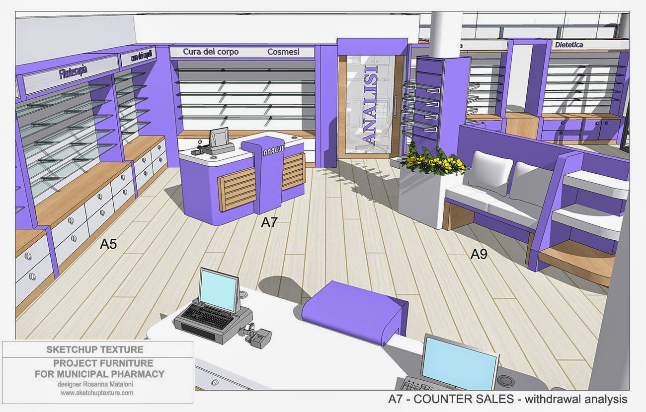 Sale Counter Design Sketchup Texture How To Design A Modern Pharmacy And 3d