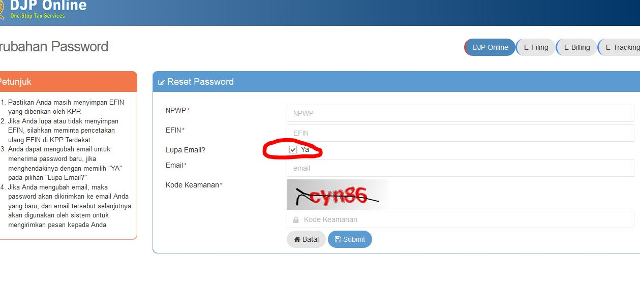 e-FIN atau Electronic Filing Identification Number | Sadar