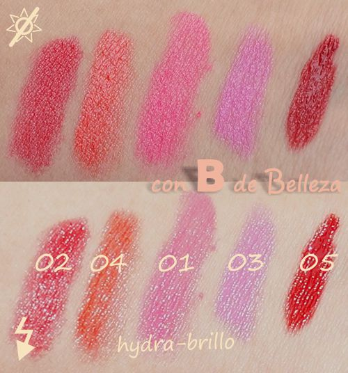 Swatches Hydra brillo