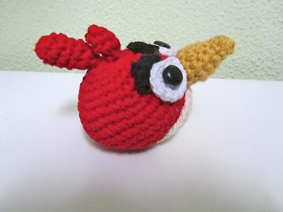 Red angry bird amigurumi