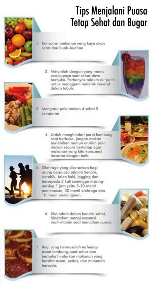 Tips Menjalani Puasa Tetap Sehat dan Bugar