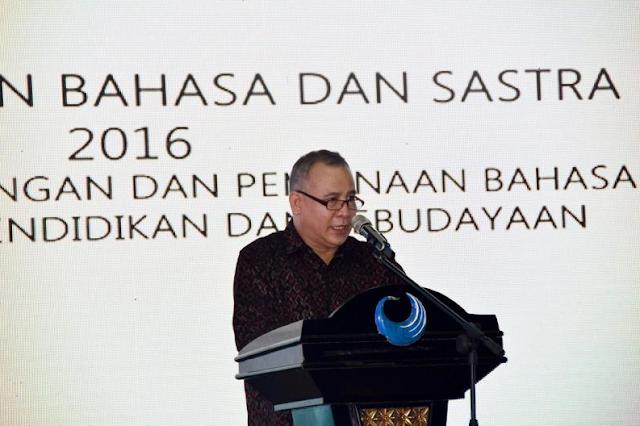 Kepala Badan Pengembangan dan Pembinaan Bahasa (Badan Bahasa) Kementerian Pendidikan dan Kebudayaan (Kemdikbud), Dadang Sunendar