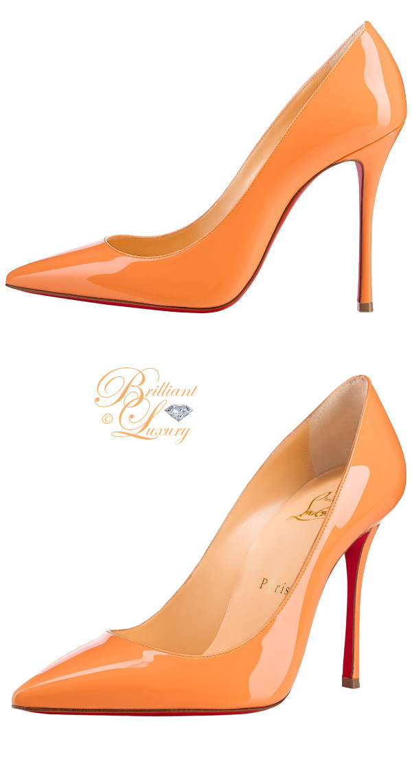 Brilliant Luxury ♦ Christian Louboutin Decoltish color-block pumps in sunset